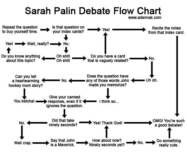 Palin debate flowchart