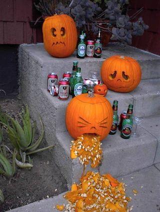 Beer pumpkin